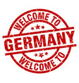 welcome to germany red stamp vector image vector image