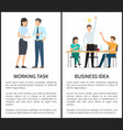 working task and business idea vector image vector image