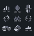 business icon logo template set vector image