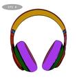 hand-drawn sketch of headphones 2 vector image