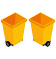3d design for yellow trashcans vector image vector image