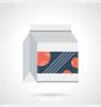 bodybuilding sport food flat color icon vector image vector image