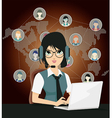 Business and Communication vector image
