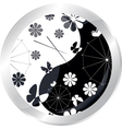 button with jaran parasol vector image