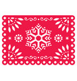 christmas papel picado design- snowflake vector image vector image