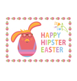 Concept Happy Easter card for hipsters vector image vector image