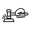 court hammer vector image