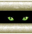 curious emerald eyes of a cat vector image