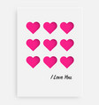 cut the pink heart on the paper and a white vector image vector image