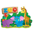 cute african animals theme image 6 vector image