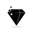 diamond expensive black vector image vector image