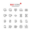 easy icons 43a computer security vector image vector image