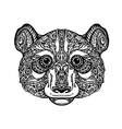 Ethnic ornamented panda bear vector image vector image
