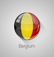European flags set - Belgium vector image vector image