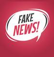 fake news cartoon speech bubble vector image vector image