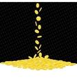 Falling golden coins gambling background vector image
