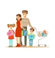 Family Of Four Colorful With vector image vector image