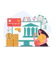 financial digital open banking platform vector image
