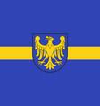 flag of silesian voivodeship in southern poland vector image vector image