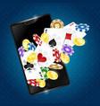 gambling in the smartphone vector image vector image
