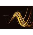 Golden sparkling stars vector image