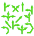 Green Arrows vector image