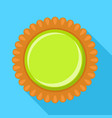 green jelly biscuit icon flat style vector image