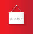 hanging sign red vector image