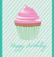 Happy Birthday cupcake vector image vector image
