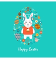 Happy easter 3 vector image vector image
