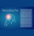 headache linear young woman vector image vector image