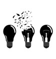 incandescent lamp icon sign vector image