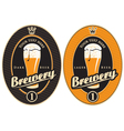 labels for brewery vector image vector image