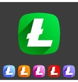 Litecoin cryptocurrency icon flat web sign symbol vector image vector image