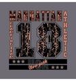 manhattan New York typography athletic design vector image