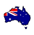 Map in colors of Australia vector image