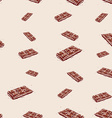 milk chocolate Hand drawn sketch on pink vector image vector image