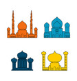 mosque set islamic religious building for muslim vector image vector image