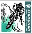motocross rider - emblem and logos vector image vector image