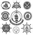 Nautical Set 4 vector image vector image