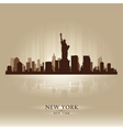 New York skyline city silhouette vector image vector image