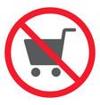 no shopping glyph icon prohibition and forbidden vector image