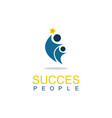people succes logo vector image vector image