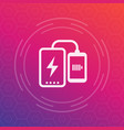 power bank charging phone icon vector image vector image