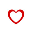 red heart design graphic icon valentines day and vector image vector image