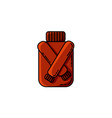red hipster autumn sweater flat icon vector image vector image