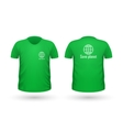 Save Planet T-shirt Front and Back View vector image vector image