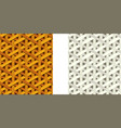 seamless weave rattan pattern flat art vector image vector image