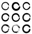 Set of ink circles vector image vector image