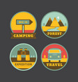 set of vintage camping logos vector image